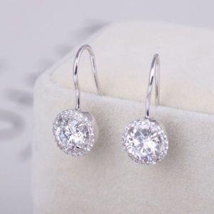 New Henri Bendel Silver Zirconia Pave Earrings